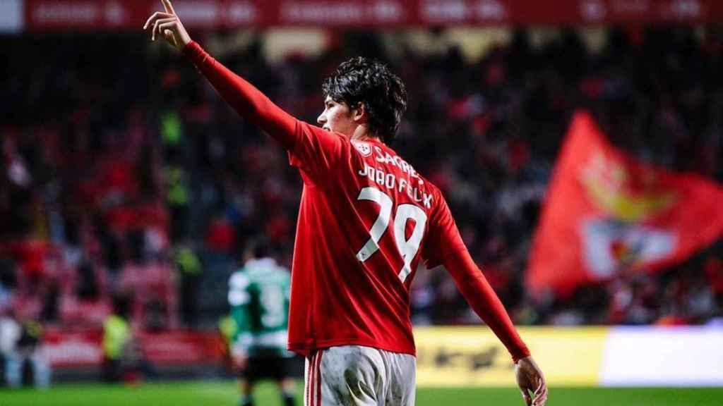 Joao Félix celebra un gol con el Benfica. Foto: Instagram (@joaofelix79)