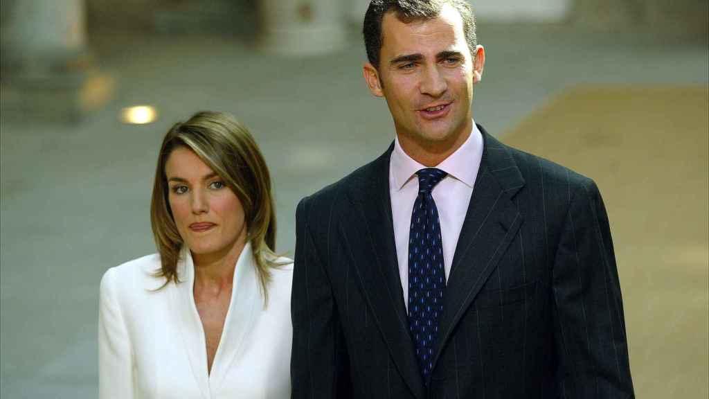 Letizia y Felipe en noviembre de 203 durante la pedida de mano