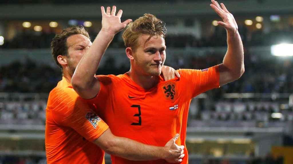 De Ligt con la selección de Holanda