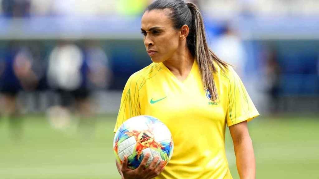 Marta, jugadora de Brasil. Foto: Twitter. (@fifacom_es)