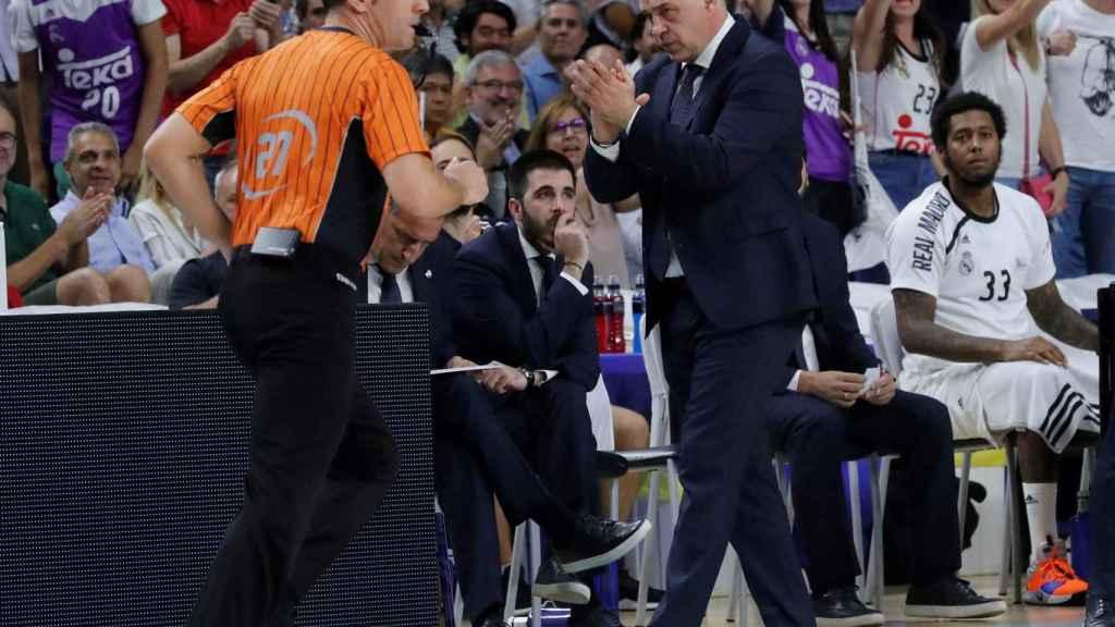 Pablo Laso en el partido contra el Barcelona Lassa