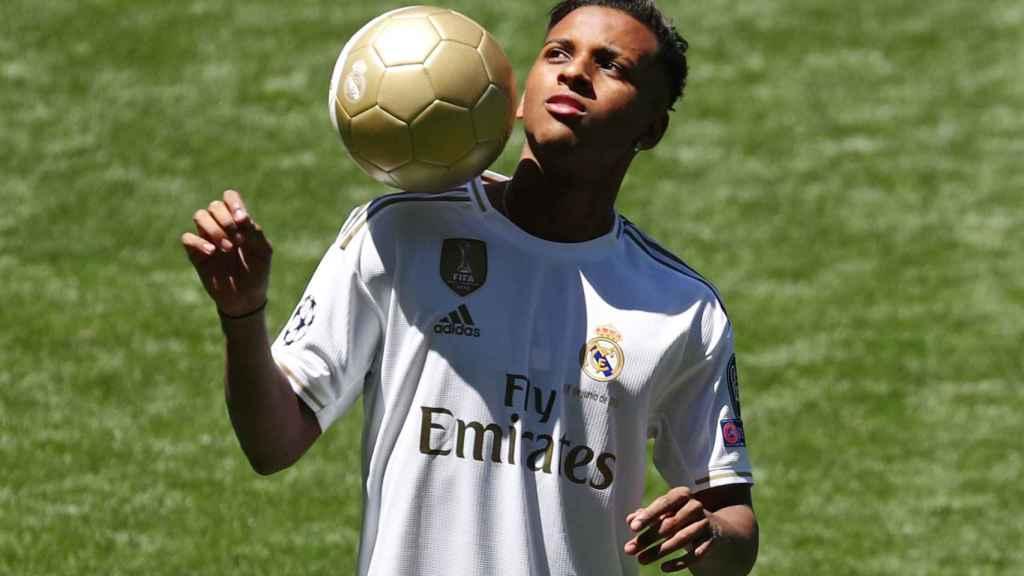 Rodrygo Goes, en el Santiago Bernabéu con la camiseta del Real Madrid