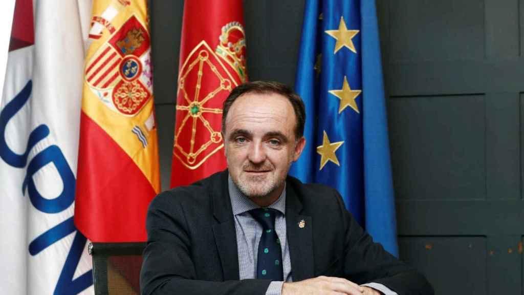 El candidato de Navarra Suma a la Presidencia foral, Javier Esparza.