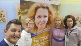 Olga K. en una de sus reuniones de reproducción humana.