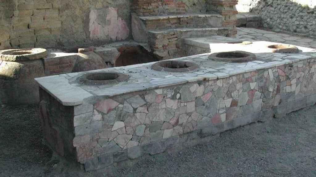 Thermopolio en Herculano.