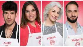 Los 4 finalistas de MasterChef: Aitana, Aleix, Teresa y Valentín