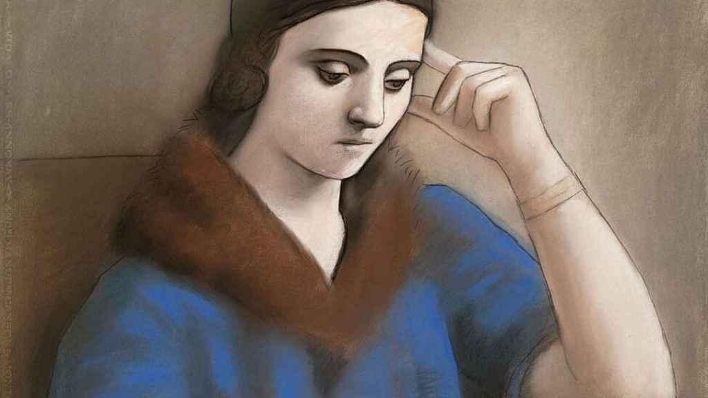 'Olga pensativa' (1923).