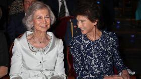 La reina Sofía  ha presidido la ceremonia de clausura de la Escuela Superior de Música.