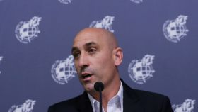 Luis Rubiales, en rueda de prensa