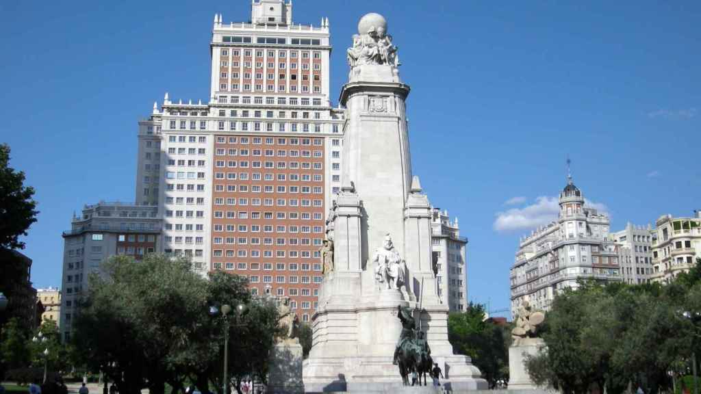 Plaza de España en Madrid.