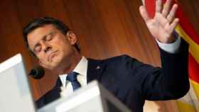 Manuel Valls, durante su comparecencia frente a la prensa.