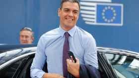 Pedro Sánchez, este jueves al llegar a la cumbre europea en Bruselas.