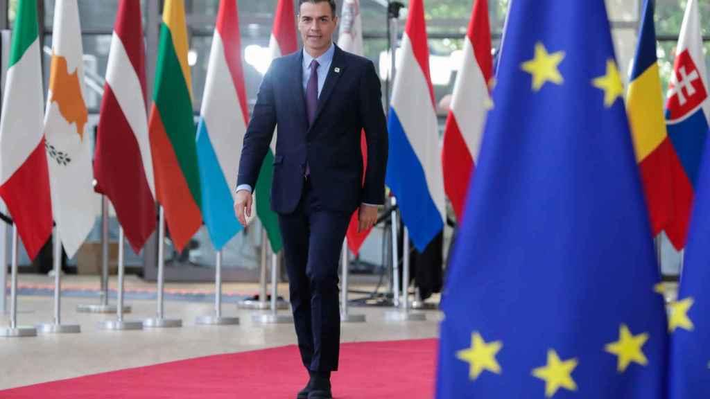 Sánchez, a su llegada a la cumbre de la UE