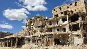 Edificio devastado por los bombardeos en la ciudad siria