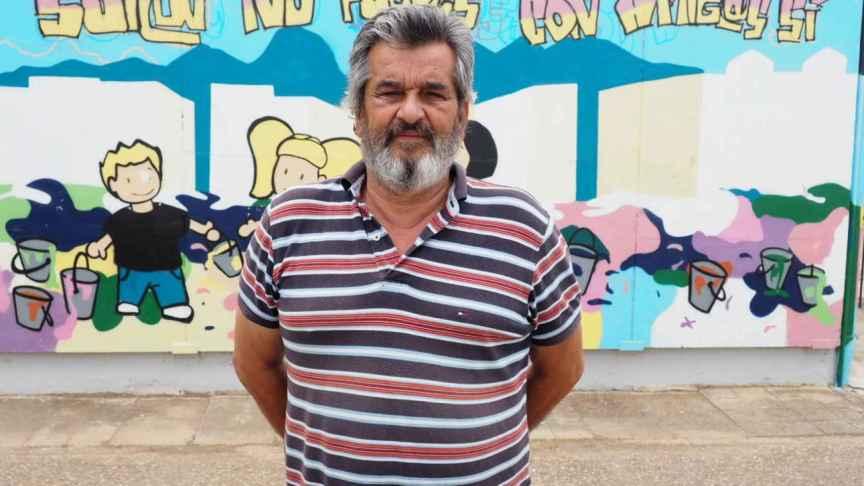 Eugenio Rosa, activista vecinal del barrio cordobés de Las Palmeras.