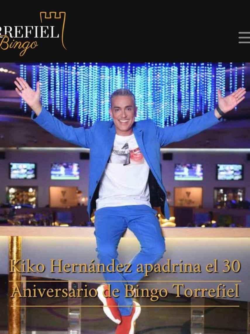Kiko Hernández en una imagen de redes sociales.