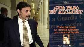 Juan Ignacio Blanco y la portada de su polémico libro.