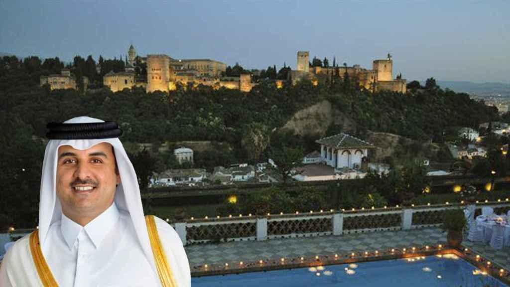 Tamim bin Hamad Al Zani, emir de Qatar, y el Carmen de San Agustín.