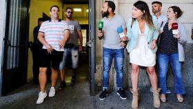 Jesús Cabezuelo y Prenda salen de los Juzgados de Sevilla este viernes