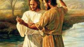 San Juan Bautista bautizando a Jesucristo