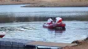Las labores de búsqueda han estado marcadas por la mala visibilidad y la baja calidad del agua.  Foto: Europa Press.