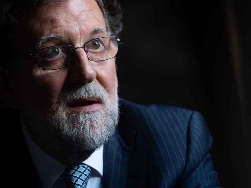 Mariano Rajoy, durante la entrevista con Diario de Avisos