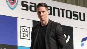 Fernando Torres, en su rueda de prensa de despedida