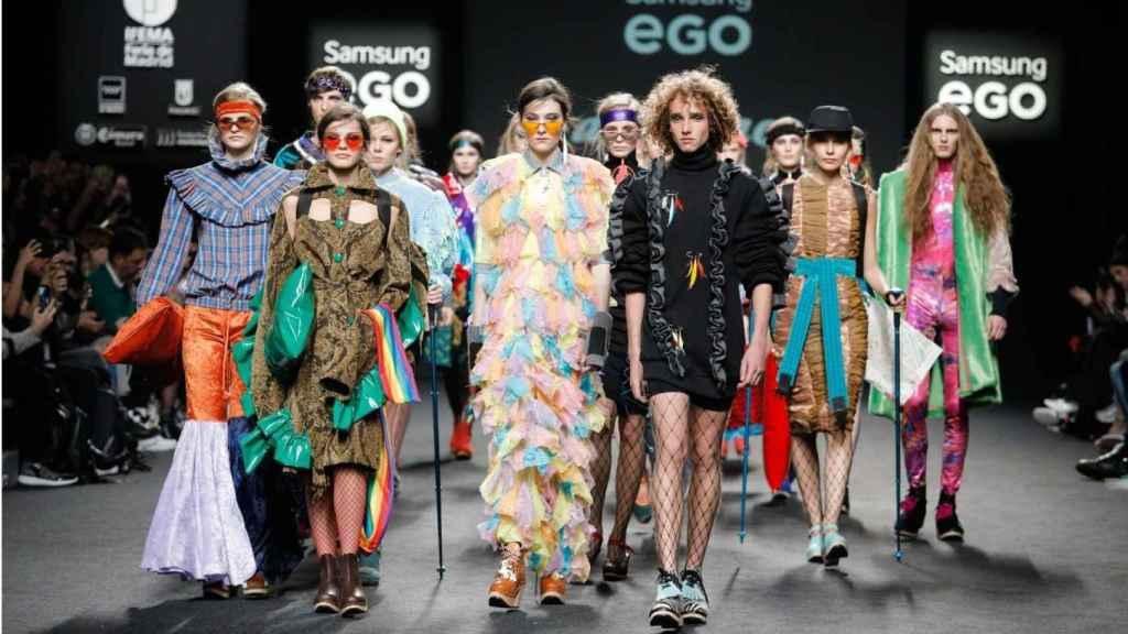 Desfile de Anel Yaos en el Samsung Ego de la Mercedes-Benz Fashion Week Madrid.
