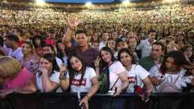 El concierto de Luis Fonsi en la Plaza de Toros de Toledo registró un gran lleno. Foto: Óscar Huertas