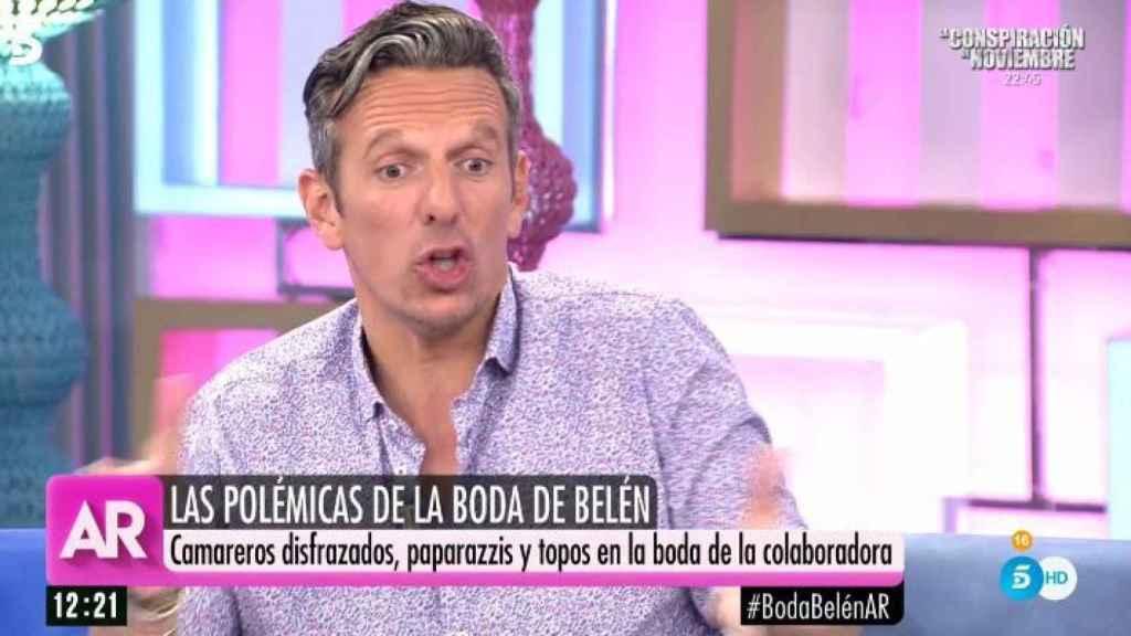 Joaquín Prat durante el programa de Telecinco.