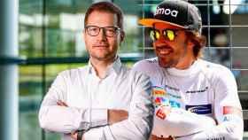 Andreas Seidl y Fernando Alonso