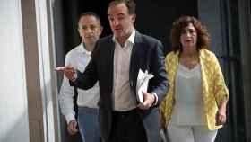 El portavoz de Navarra Suma y candidato a la presidencia del Gobierno de Foral, Javier Esparza.