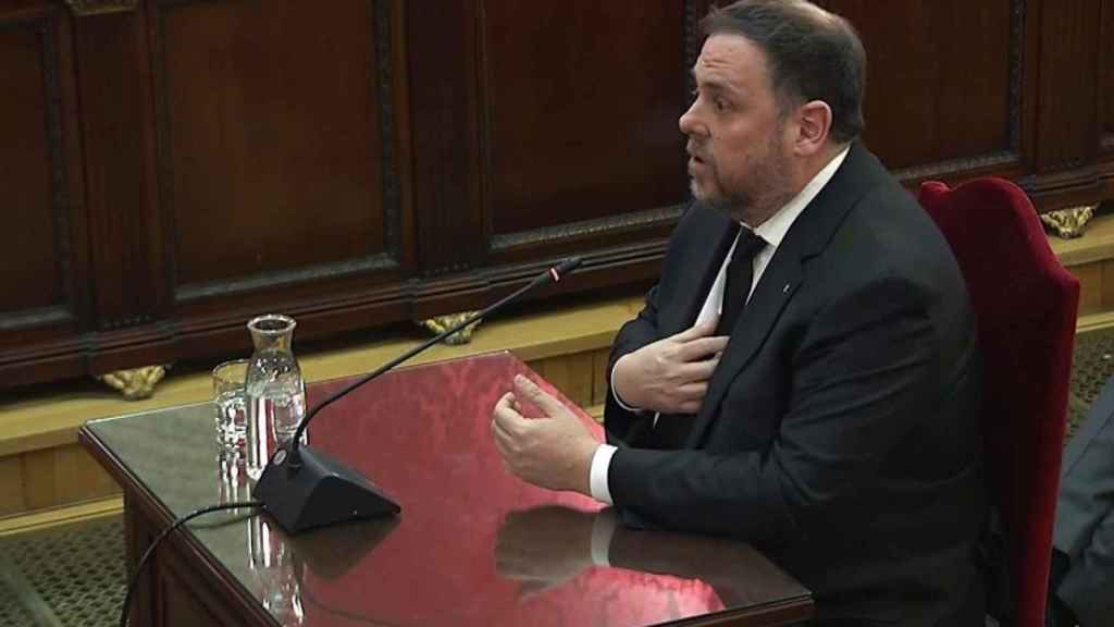 Oriol Junqueras durante el juicio al 'procés'.