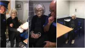 La mujer, detenida en las dependencias policiales de Gran Manchester (Reino Unido). Foto: Twitter.