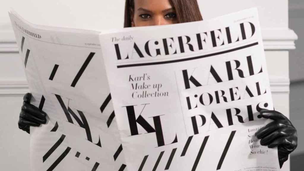 Modelo de L'Oréal en una imagen de redes sociales.