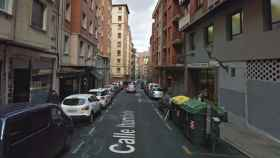 Calle de Bilbao en la que sucedieron los hechos