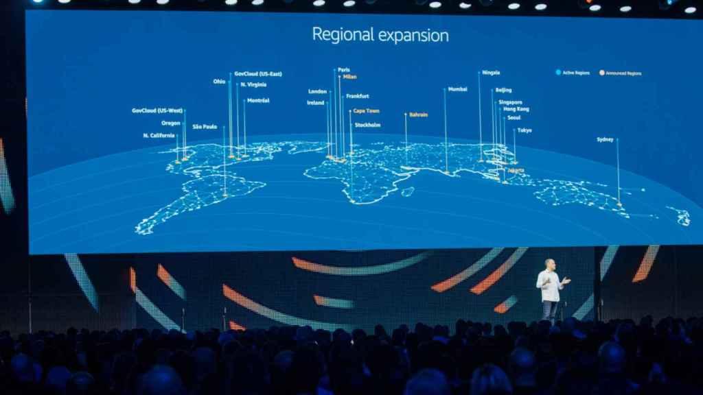 Servicios en la nube como AWS usan varias localizaciones para los servidores