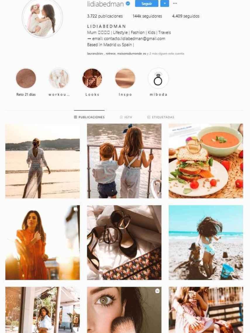 Perfil de Instagram de Lidua Bedman.
