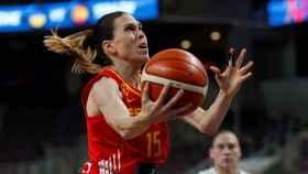 Anna Cruz, en el primer partido del Eurobasket