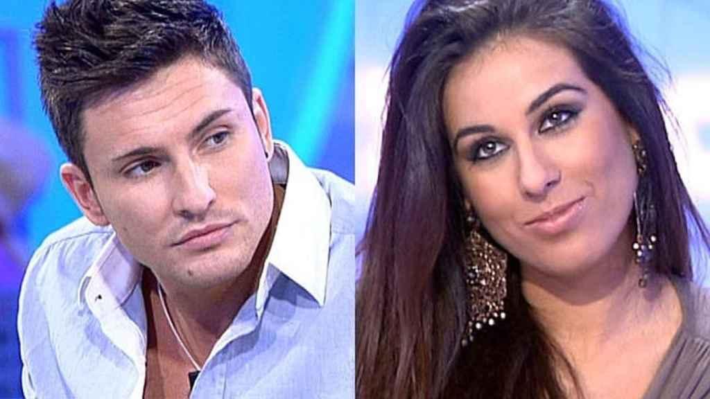 Indhira y Víctor en un combo de Telecinco.