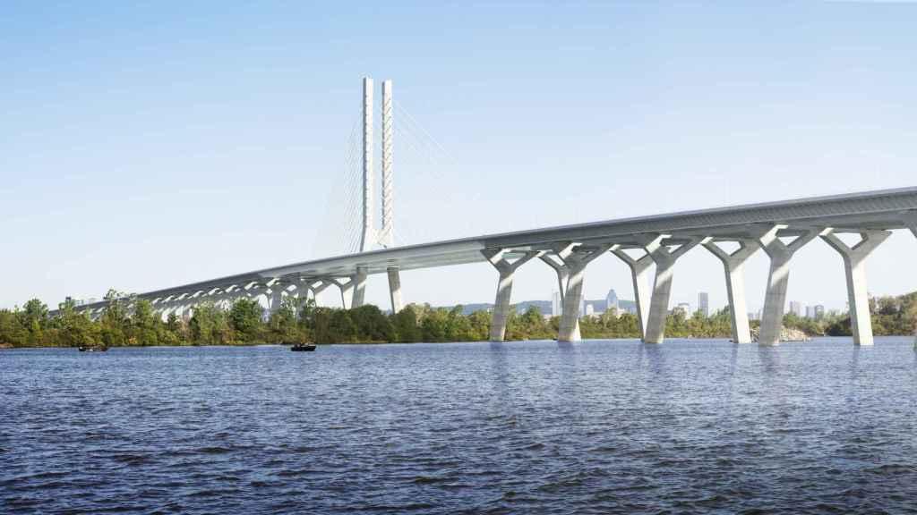 Imagen del puente de Champlain, construido por ACS.