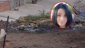 Imagen de la hoguera captada en la casa de Sergio Ruiz, el novio de Dana