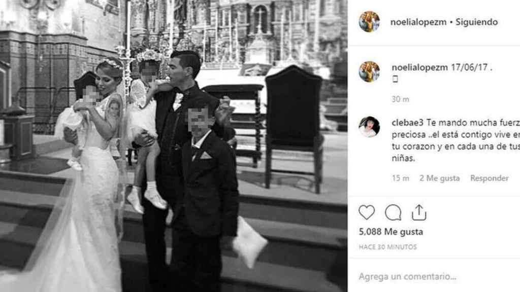 Noelia López recuerda el día de su boda con José Antonio Reyes.
