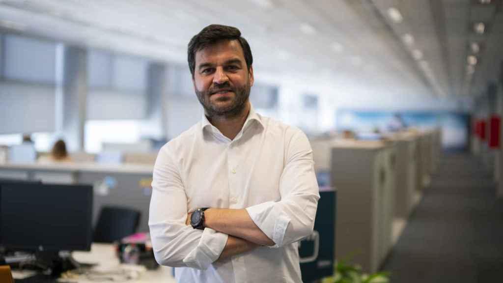 Gonzalo Martín Villa durante un momento de la entrevista.
