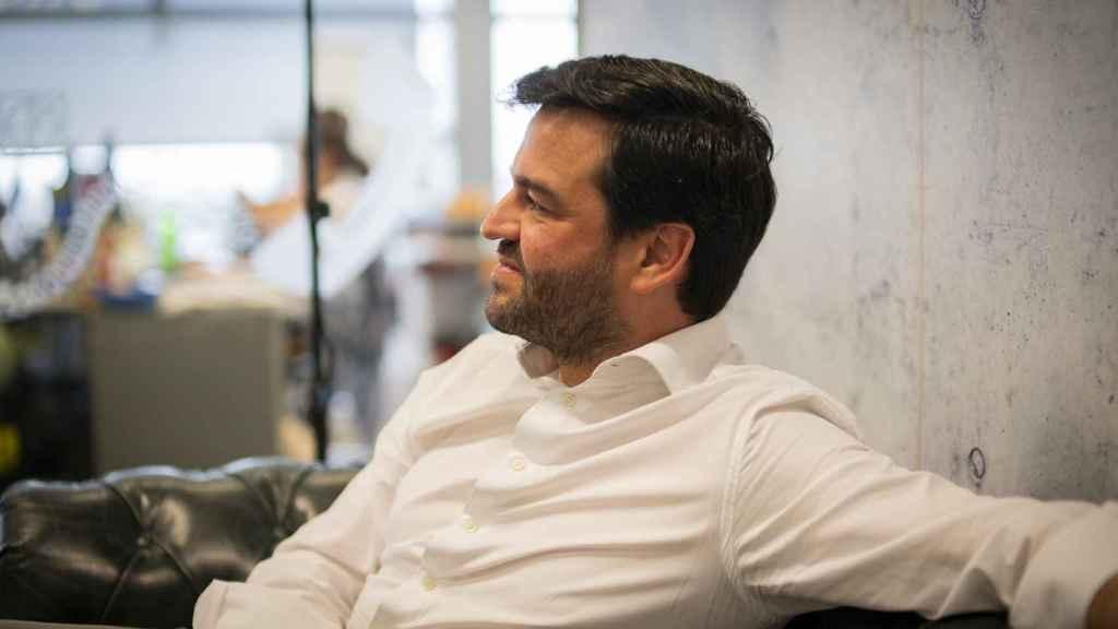 Gonzalo Martín Villa durante la entrevista.