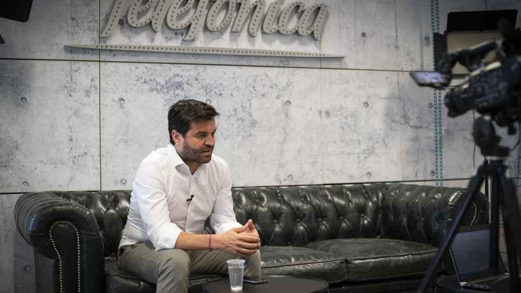Gonzalo Martín Villa durante un momento de la entrevista con EL ESPAÑOL.