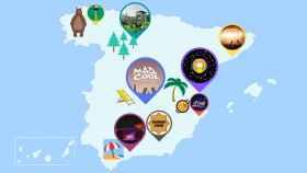 El mapa de los festivales que no puedes perderte este verano.