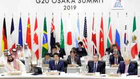 Los líderes del G20, en la sesión inaugural.