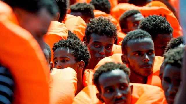 Migrantes del Aquarius, una vez rescatados