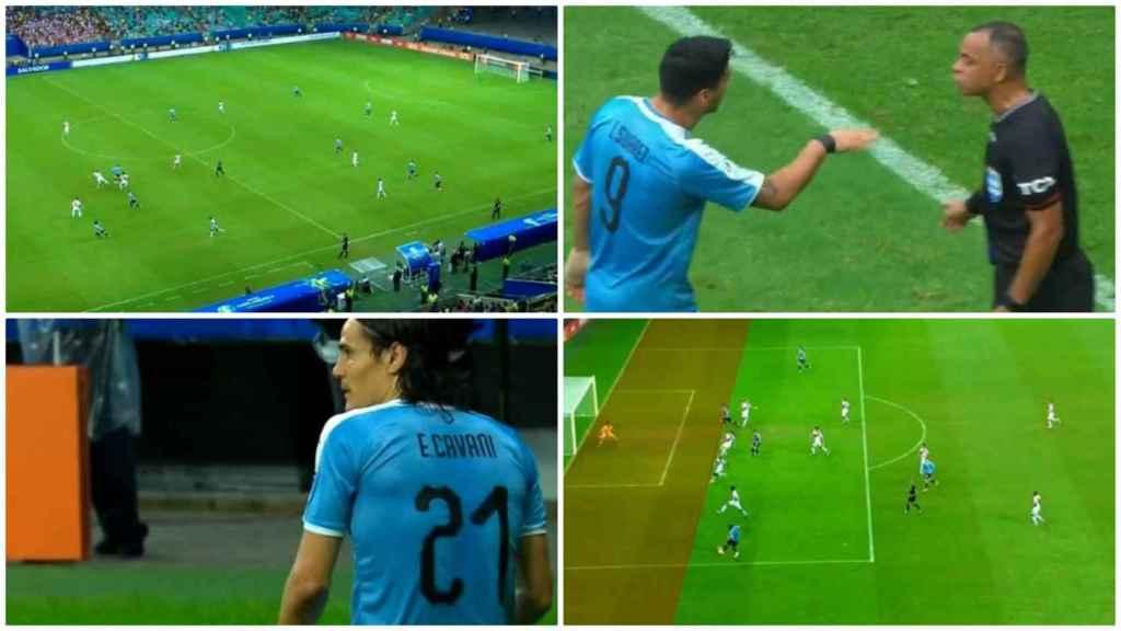 Los goles anulados a Uruguay
